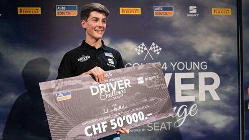 Julien Apothéloz, 17 ans, réalise son rêve d'une grande carrière de pilote automobile