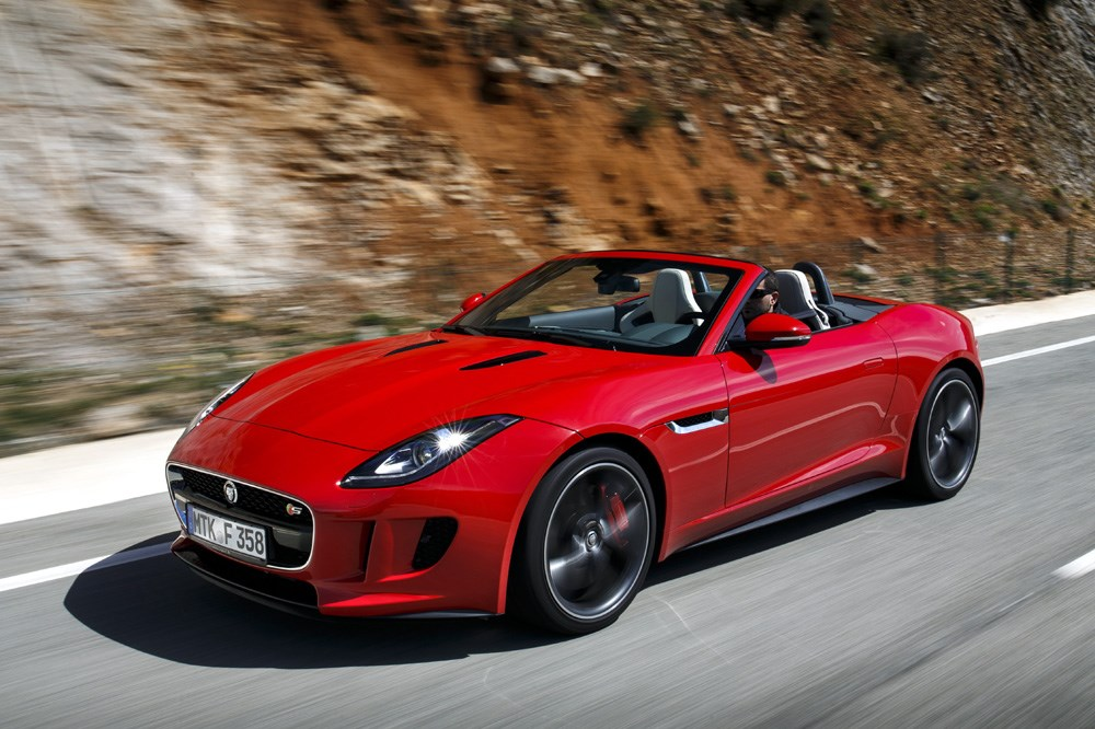 jaguar f type jaguar f type cabriolet 2013 im test. Black Bedroom Furniture Sets. Home Design Ideas